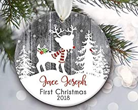 Personalized Deer Baby Boy First Christmas Ornament, Baby First Christmas Ornament Girl, Baby Girl Ornament Keepsake Gift ...