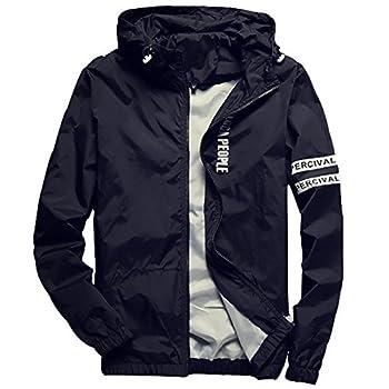 Homaok Men s Lightweight Breathable Jacket Medium Black