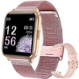 YUNFUN Smartwatch Mujer, Reloj Inteligente Táctil Completa, Pulsera Actividad Mujer IP68 con 17...