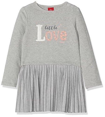 s.Oliver Baby-Mädchen 65.808.82.2846 Kleid, Grau (Light Grey Melange 9400), 86