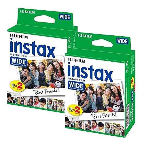 2 paquetes (40 hojas) Fujifilm Fuji Instax Wide Fotos instantáneas para Polaroid 300 210 200 100