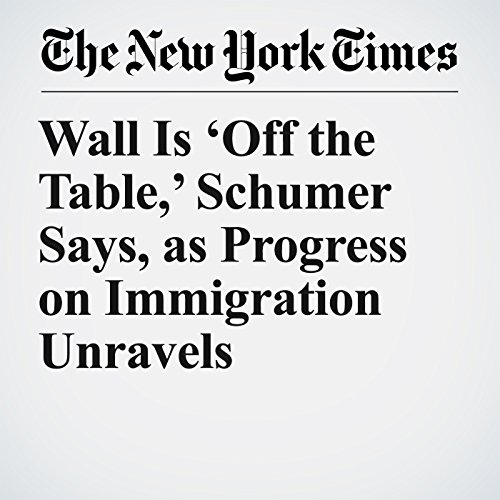 Wall Is 'Off the Table,' Schumer Says, as Progress on Immigration Unravels copertina