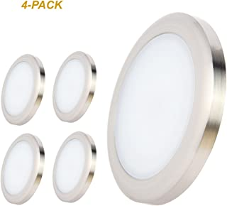 acegoo RV Boat LED Ceiling Light 4 Pack Surface Mount 12 Volt Puck Lights for Campers, Motorhomes, Trailers, 5th Wheels, Yachts Interior Lighting (Warm White)