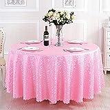 Poliéster jacquard mantel hotel bodas banquete fiesta decoración de mesa redonda cubiertas cubiertas cubre la mesa impresa decoración del hogar Manteles