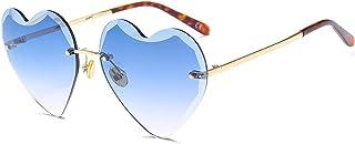 Love cut-edge sunglasses rimless glasses men and women street photography sunglasses