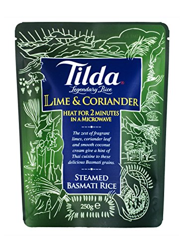 Tilda Lime and Coriander Steamed Basmati Rice 250g - Lime und Koriander Basmati Reis