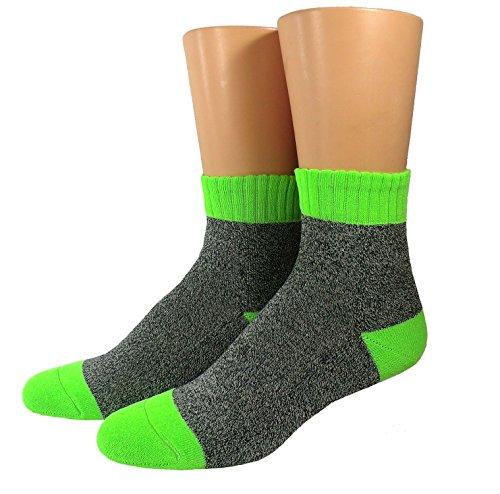 Sportsocken CoolMax unisex, Größe:39/42, Farben alle:schwarzmeliert/neongrün