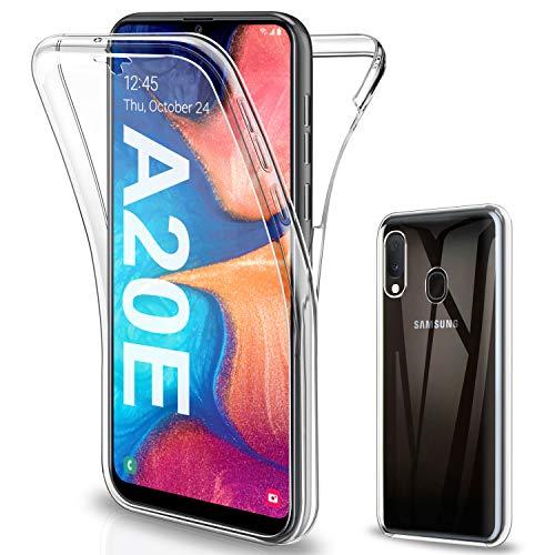 SOGUDE Cover per Samsung A20E, Custodia per Samsung A20E Transparent 360° Full Body Protezione Silicone TPU Premium Resistente Case Cover per Samsung Galaxy A20E