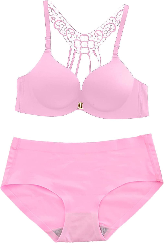 Lingerie Set for Womens Underwear Fashion Plus Size Leopard Printed Push Up Lace Non-marking Bra Pajamas Suit