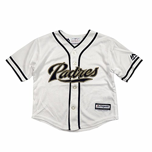 Majestic Athletic San Diego Padres MLB White Official Home Cool Base Jersey for Infant (18M)