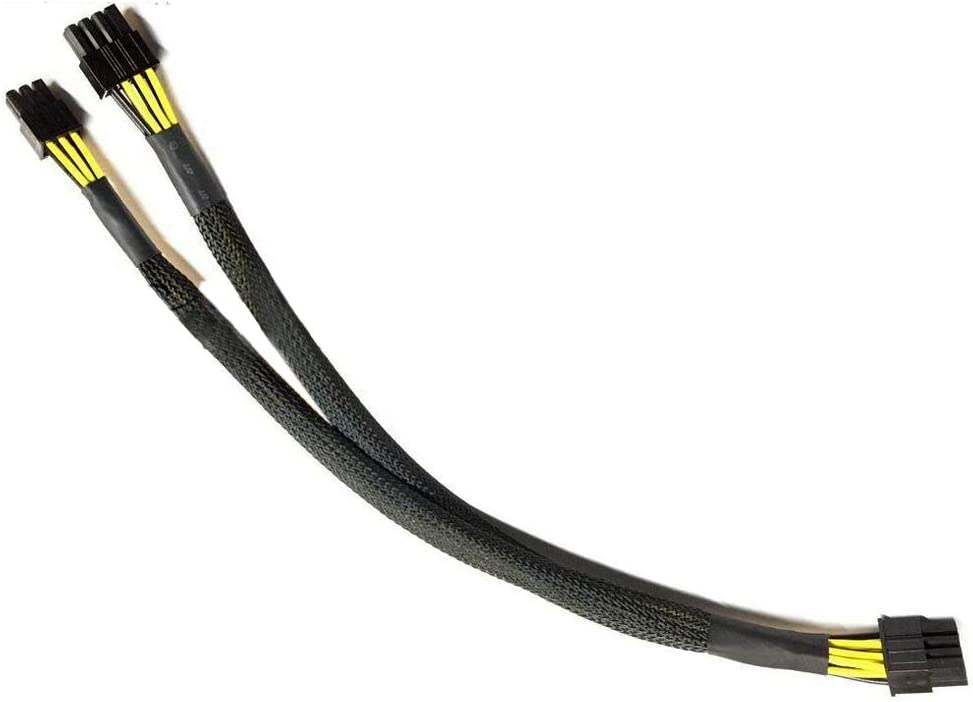 Youyitai 10pin to 8-p+6pin Power Connector Cable Replacement for DELL Precision 5820 and GPU(Cable Length:50cm