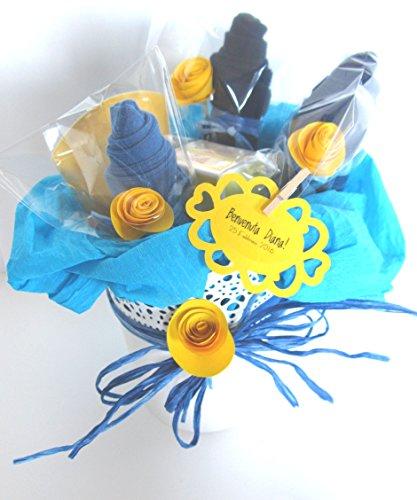 Idée cadeau originale pour bébé   Pot de fleurs avec deux produits de la ligne de calendula bio et trois \