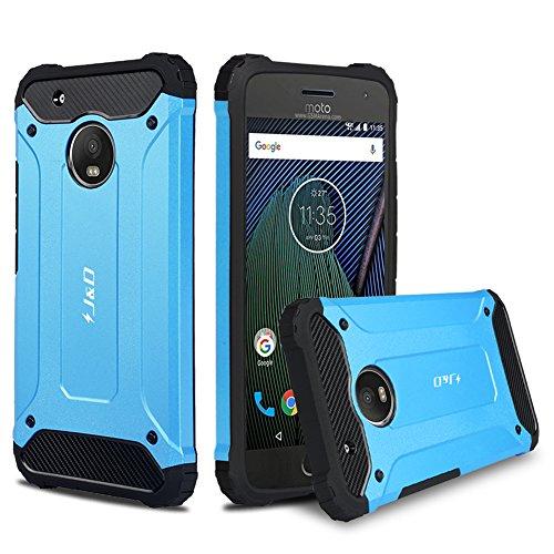 """J&D Compatibile per Cover Moto G5 Plus, [Protezione Robusta] [Armatura Sottile] Ibrida Antiurta Protettiva aspra Custodia per Motorola Moto G5 Plus (5.2"""") - [Non per Moto G5 5.0""""] - Blu"""