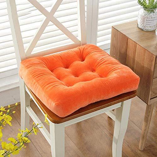 HONGEYO 2 cojines para silla de jardín, cojines con corbatas, para sillas de comedor, cocina, comedor, salón, patio, oficina