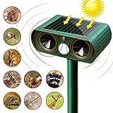 SunTop Répulsif Chat Ultrason Solaire Repulsif Chat Exterieur Sensibilité et Fréquence Réglable...