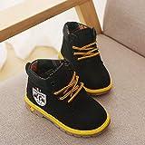 YXDS Botas para niños Moda cálido Niños Bebés Niños Niñas Cuero Otoño Invierno Botines Botines Zapatos para niños