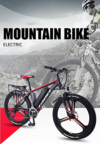 Hyuhome Electric Bikes for Adult, Magnesium Alloy Ebikes Bicycles All Terrain,26' 36V 350W 13Ah Removable Lithium-Ion Battery Mountain Ebike for Mens,Blue,8Ah50Km