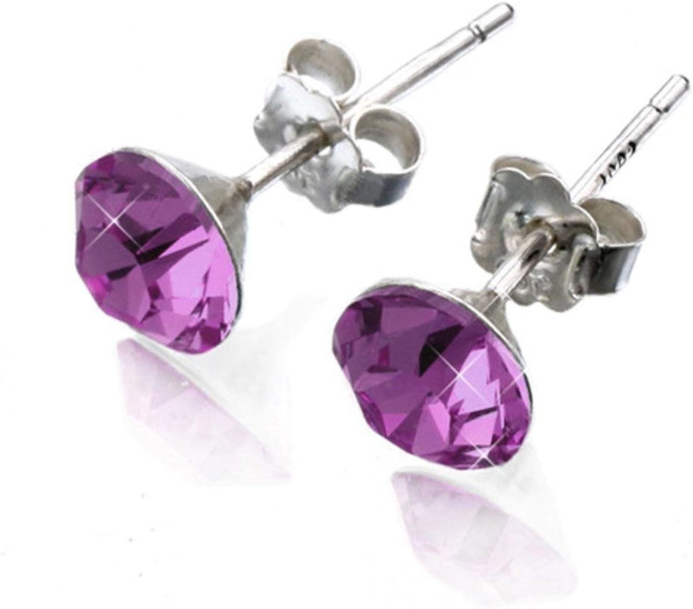 Weiwei Men's Earrings Men's Ear Nails Titanium Steel Earrings Ear Nail Zircon Ear Nail with Diamond Ear Nail Anti Allergy Send Friend 6mm