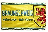 Flaggenfritze® Fanflagge Braunschweig - Meine Liebe - 90 x 150 cm