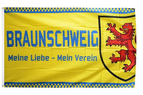 Flaggenfritze Fahne/Flagge Braunschweig - Meine Liebe + gratis Sticker
