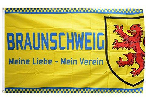 Fahne / Flagge Braunschweig - Meine Liebe + gratis Sticker, Flaggenfritze®