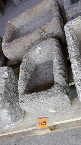 Der Naturstein Garten Alter Trog aus Granit 37 cm lang Brunnen Steintrog - G1454 Granittrog Waschbecken