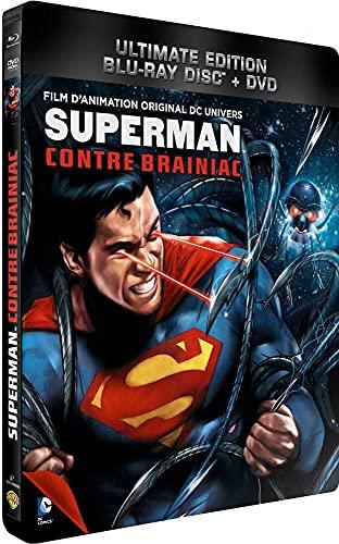 Superman contre Brainiac - Blu-ray - DC COMICS [Blu-ray + DVD - Édition boîtier SteelBook]
