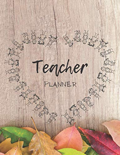 Teacher planner: Cute notebook for to do's, journal, 8.5x11 inches (perfect size)
