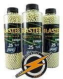 ASG Airsoft Blaster Tracer BBS 0.25gram 3300 X3 Bottiglie e Toppa in PVC di F&O, munizioni luminose/incandescenti da 6 mm per combattimenti notturni/oscuri