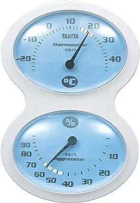 タニタ 温湿度計 温度 湿度 アナログ 壁掛け ブルー TT-509 BL