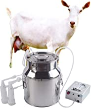 Futt 14L Electric Milking Machine Single Bucket Piston Vacuum Milking Machine for Cows Cattle or Sheep Optional (【Direct Pumping Type】, Sheep)