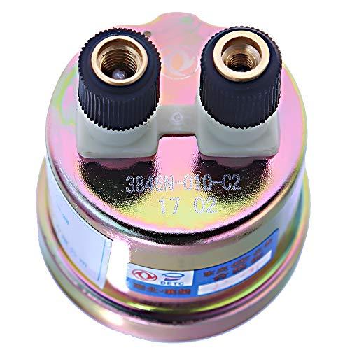 "Oil Pressure Sender, Sending Unit, VDO Type, 80psi Input, 10-180 ohms Output, 1/8""-27NPT, w/16 psi Low Alarm Switch"