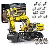 XIAN Bloques de construcción para tractores de control remoto compatibles con Lego Technic – 1706 piezas (excavadora) (excavadora)