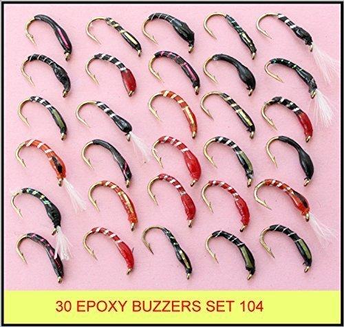 30 gemischte EPOXY SUMMER forelle fliegenfischen fliegen neu SET 104