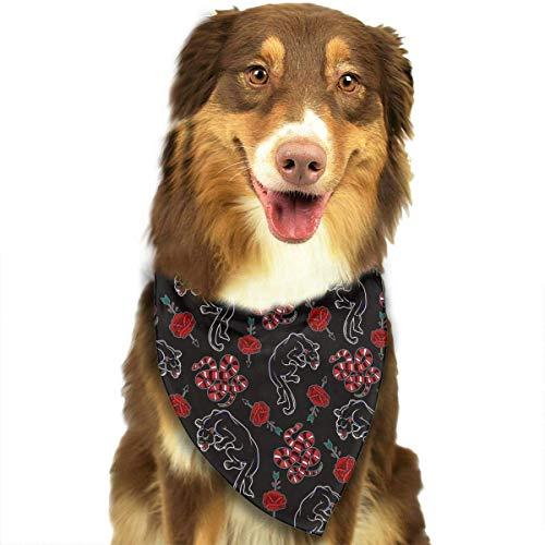FunnyStar Hond Bandana Luipaard Slang en Bloemen Sjaals Accessoires Decoratie voor Huisdier Katten en Puppies
