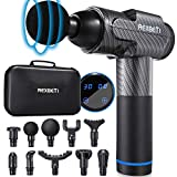 REXBETI Massage Gun, Deep Tissue Massage Gun with 30 Speeds, Percussion Muscle Massager for Athlete, Sore Muscle Pain Relief, Long Battery Life with 10 Heads and Carrying Case