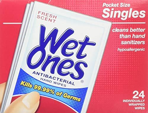 Wet Ones Antibacterial Hand Wipes Singles 48-Count Now $3.44