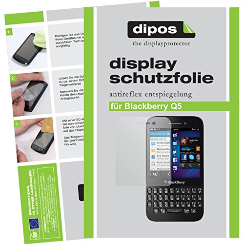 dipos I 2X Schutzfolie matt kompatibel mit BlackBerry Q5 Folie Bildschirmschutzfolie