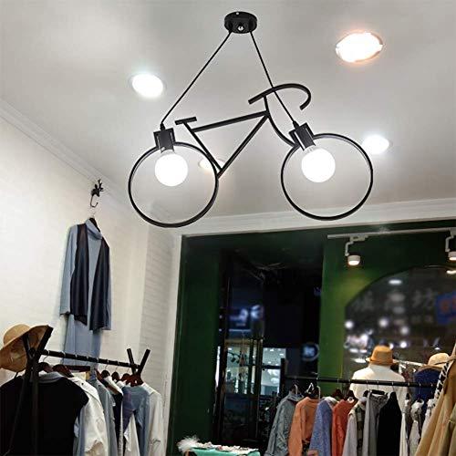 Creative Bicycle Metal Iron hanglampen E27 Edison Bike plafond hanglampen Wedstrijden Restaurant Droplight voor Wonen Eten Children's Room Kledingwinkel,Black,68 * 42CM