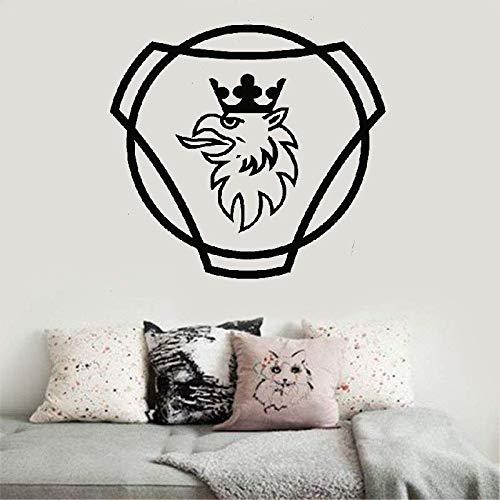 wandaufkleber 3d Wandtattoo Schlafzimmer Aufkleber Scania Logo Hgv Lkw Home Decor Schlafzimmer geschwungen