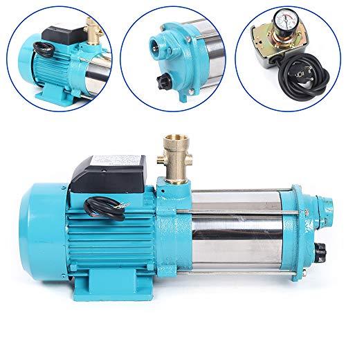 1300W Centrifugal Pump 6000L/H Kreiselpumpe Hauswasserwerk Gartenpumpe Pumpensteuerung Druckschalter