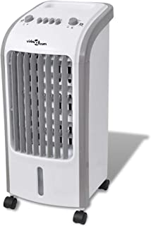 vidaXL Enfriador Aire Portátil 80W 4 L 270 m³/h Aire Acondicionado Ventilador