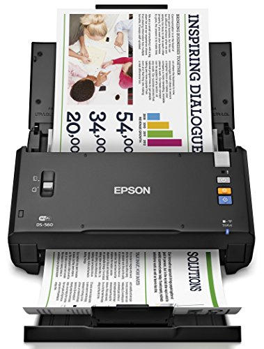 Epson WorkForce DS-560 Wireless Color Document Scanner for PC and Mac, Auto Document Feeder (ADF), Duplex Scanning (Renewed)