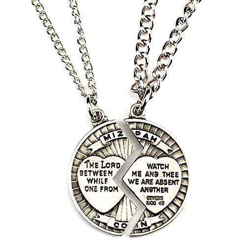 Mizpah Necklace Set Sweetheart Gift Lord Watch Between Me and Thee Mizpah Coin Genesis [並行輸入品]