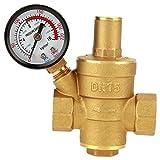 DN15 Regolatore di pressione dell'acqua regolabile in ottone Riduttore con manometri Combo per camper RV - Proteggi gli impianti idraulici RV ei tubi flessibili dall'acqua della città ad alta pression