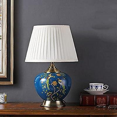 SEGURIDAD: Garantizamos una alta calidad de nuestras lámparas de mesa de porcelana.Todos nuestros productos no son tóxicos, son seguros para la electricidad y cuentan con la certificación nacional 3C, se pueden utilizar con confianza. FÁCIL DE USAR ...