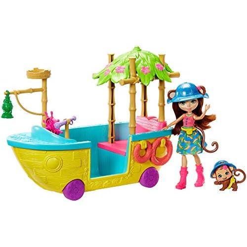 Enchantimals, Playset Barca della Giungla, Bambola e Accessori, Giocattolo per Bambini 4+Anni, GFN58