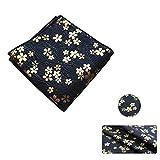 Tejidos de algodón estampados bronceados hechos a mano de estilo japonés para bolsas de regalos de bricolaje/kimono/fundas de almohada/monedero (Azul marino)