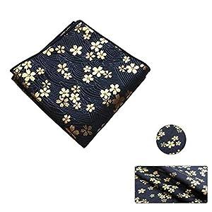 Tejidos de algodón estampados bronceados hechos a mano de estilo japonés - Bolsa de regalos de bricolaje/Kimono/Fundas de almohada (Azul marino)
