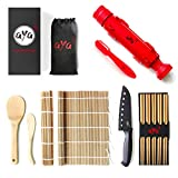 Sushi Making Kit - Original AYA Bazooka Kit - Sushi Knife - Video Tutorials - Sushi Maker - 2 Bamboo...